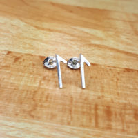 Silver Rune earrings