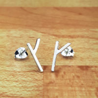 Silver rune earrings k,g