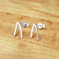 Silver rune stud earrings