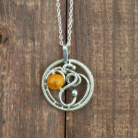 light amber pendant